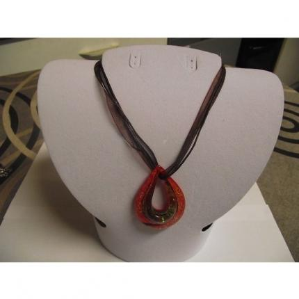 Collier-Murano-ovale rouge-multicouleur