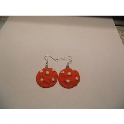 Boucle d oreille -cookies-orange